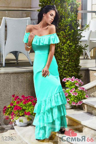 Платья с рюшами длинное