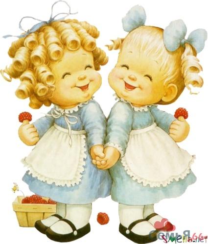 Поздравления двух девочек